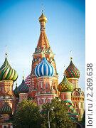Собор Василия Блаженного, Москва (2010 год). Стоковое фото, фотограф Анатолий Соловьев / Фотобанк Лори