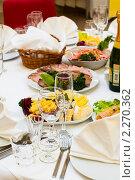 Купить «Праздничный ужин», фото № 2270362, снято 29 декабря 2010 г. (c) Кекяляйнен Андрей / Фотобанк Лори