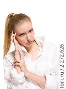 Портрет блондинки. Стоковое фото, фотограф Антон Романов / Фотобанк Лори