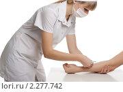 Медсестра делает укол. Стоковое фото, фотограф SvetlanaPanteleeva / Фотобанк Лори