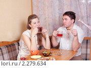 Купить «Разговор за столом», фото № 2279634, снято 8 января 2011 г. (c) Типляшина Евгения / Фотобанк Лори