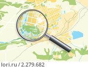 Купить «Карта города с лупой», иллюстрация № 2279682 (c) Одиссей / Фотобанк Лори