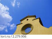 Церковь Санто Спирито во Флоренции, Италия (2006 год). Стоковое фото, фотограф Роман Богдановский / Фотобанк Лори