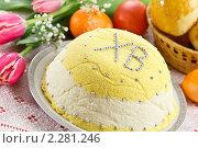 Купить «Творожная пасха, крашенная тыквой», эксклюзивное фото № 2281246, снято 23 декабря 2010 г. (c) Лидия Рыженко / Фотобанк Лори
