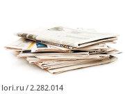 Купить «Стопка газет», фото № 2282014, снято 6 декабря 2010 г. (c) Воронин Владимир Сергеевич / Фотобанк Лори