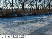 Замерзшая река. Стоковое фото, фотограф Ольга Шевченко / Фотобанк Лори