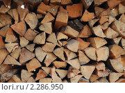 Колотые дрова. Стоковое фото, фотограф Лиля Сайко / Фотобанк Лори