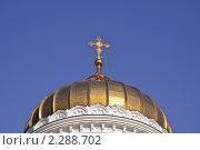 Купить «Купол Кафедрального Соборного Храма Христа Спасителя», эксклюзивное фото № 2288702, снято 7 октября 2010 г. (c) Алёшина Оксана / Фотобанк Лори