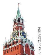 Купить «Спасская башня Кремля. Куранты. Москва», фото № 2288994, снято 20 декабря 2008 г. (c) Екатерина Овсянникова / Фотобанк Лори