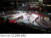 Открытие хоккейного матча (2010 год). Редакционное фото, фотограф Анатолий Аверьянов / Фотобанк Лори