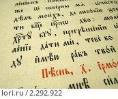 Лист старинной книги со словами на кириллице. Стоковое фото, фотограф Дина Мальцева / Фотобанк Лори