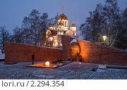 Купить «Вечный огонь на площади Славы. г.Самара», фото № 2294354, снято 16 января 2011 г. (c) Акиньшин Владимир / Фотобанк Лори