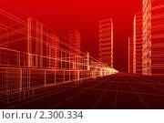 Купить «Набросок здания, на красном фоне, 3д», иллюстрация № 2300334 (c) Сахно Роман Викторович / Фотобанк Лори