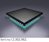 Купить «Микропроцессор», иллюстрация № 2302962 (c) Сергей Куров / Фотобанк Лори