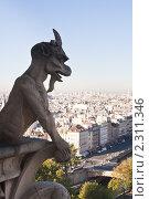 Купить «Вид на Париж с собора  Нотр дам де Пари (Notre dame de Paris). Франция.», фото № 2311346, снято 21 октября 2010 г. (c) Николай Коржов / Фотобанк Лори