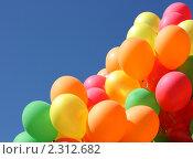 Воздушные шары на фоне неба. Стоковое фото, фотограф Яцун Алена / Фотобанк Лори