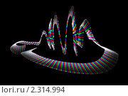 Купить «Абстрактный фон - рисование светом», фото № 2314994, снято 26 декабря 2009 г. (c) Losevsky Pavel / Фотобанк Лори