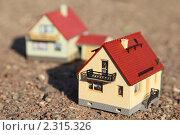 Купить «Модель дома», фото № 2315326, снято 10 августа 2009 г. (c) Losevsky Pavel / Фотобанк Лори