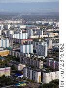Вид сверху на город Нижневартовск (2010 год). Стоковое фото, фотограф Владимир Мельников / Фотобанк Лори