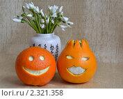 Апельсины улыбаются. Стоковое фото, фотограф Александр Зубарев / Фотобанк Лори