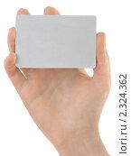 Купить «Женская рука с пустой визиткой на белом фоне», фото № 2324362, снято 15 ноября 2018 г. (c) Buka / Фотобанк Лори