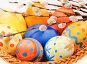 Пасхальные расписанные вручную яйца и веточки вербы, фото № 2325110, снято 21 марта 2010 г. (c) ElenArt / Фотобанк Лори