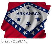 Купить «Флаг Арканзаса в форме штата», иллюстрация № 2328110 (c) Савельев Андрей / Фотобанк Лори