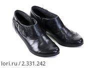 Пара черных ботинок. Стоковое фото, фотограф Руслан Кудрин / Фотобанк Лори