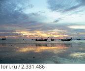 Вечерний морской пляж (2010 год). Стоковое фото, фотограф Баранов Александр / Фотобанк Лори