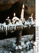 Купить «Свечи в священном месте перед Буддой в Северном Таиланде», фото № 2333890, снято 17 февраля 2008 г. (c) Алексей Долотов / Фотобанк Лори