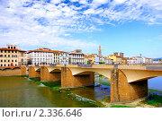 Купить «Мост через реку  Арно, Флоренция. Италия.», фото № 2336646, снято 23 августа 2010 г. (c) Vitas / Фотобанк Лори