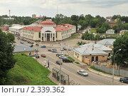 Купить «Панорама Волоколамска с кремлёвского вала», фото № 2339362, снято 8 июня 2010 г. (c) Малышев Андрей / Фотобанк Лори