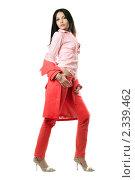 Купить «Девушка в красном», фото № 2339462, снято 3 октября 2009 г. (c) Сергей Сухоруков / Фотобанк Лори
