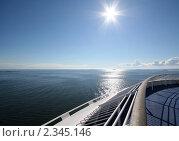 Морской пейзаж с солнцем. Стоковое фото, фотограф Маргарита Герм / Фотобанк Лори