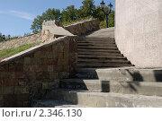 Каменная лестница на набережной Тамбова. Стоковое фото, фотограф Щеголев Владимир / Фотобанк Лори