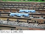 Купить «Рельсы», эксклюзивное фото № 2346350, снято 13 июля 2010 г. (c) Алёшина Оксана / Фотобанк Лори