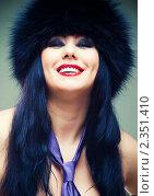 Купить «Девушка в меховой шапке», фото № 2351410, снято 19 января 2011 г. (c) Вероника Галкина / Фотобанк Лори