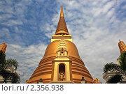 Таиланд, Бангкок. Буддийский храм (Wat Bowonniwet), ступа (2011 год). Стоковое фото, фотограф Валентина Качалова / Фотобанк Лори