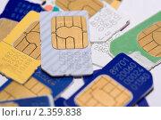 Купить «SIM-карты», фото № 2359838, снято 19 февраля 2011 г. (c) Литвяк Игорь / Фотобанк Лори