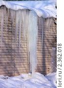 Купить «Сосульки», фото № 2362018, снято 19 ноября 2018 г. (c) Илюхина Наталья / Фотобанк Лори