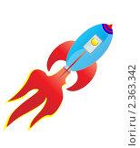 Купить «Ракета в полёте - иллюстрация», иллюстрация № 2363342 (c) Mihhail Fainstein / Фотобанк Лори