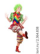 Купить «Девушка в одежде клоуна», фото № 2364838, снято 21 ноября 2009 г. (c) Сергей Сухоруков / Фотобанк Лори
