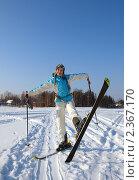 Купить «Лыжница», фото № 2367170, снято 23 февраля 2011 г. (c) Троицкая Алиса / Фотобанк Лори