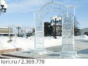 Ледяные фигуры, зимний городской пейзаж. Стоковое фото, фотограф valeri ruzanov / Фотобанк Лори