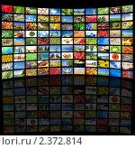 Купить «Много экранов телевизоров с различными фотографиями», фото № 2372814, снято 17 января 2020 г. (c) Воронин Владимир Сергеевич / Фотобанк Лори