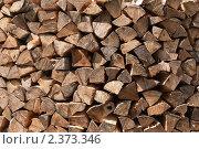 Купить «Поленница дров», фото № 2373346, снято 14 сентября 2010 г. (c) Сергей Яковлев / Фотобанк Лори