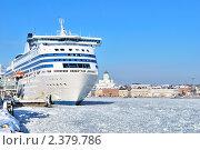 Купить «Пассажирский паром у терминала в Хельсинки, Финляндия», фото № 2379786, снято 20 февраля 2011 г. (c) Татьяна Савватеева / Фотобанк Лори