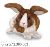 Нарисованный кролик. Стоковая иллюстрация, иллюстратор Галина Томина / Фотобанк Лори