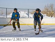 Купить «Дети играют в хоккей», фото № 2383174, снято 27 февраля 2011 г. (c) Игорь Момот / Фотобанк Лори