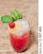 Купить «Малиновый коктейль», фото № 2387486, снято 1 марта 2011 г. (c) Федор Кондратенко / Фотобанк Лори